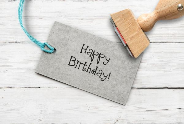Stempel Happy Birthday 2