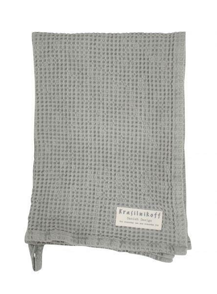 Handtuch/Geschirrtuch, Waffelstruktur, grau