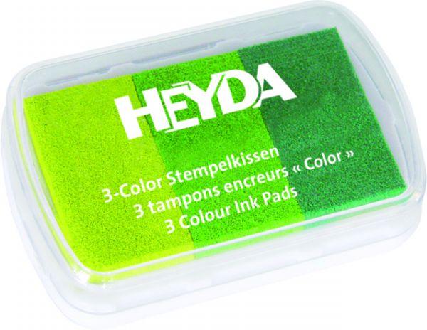 """3-Color-Stempelkissen """"Grüntöne"""" Heyda"""