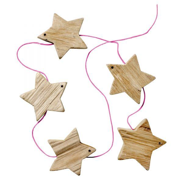 Girlande von Bloomingville aus Holz, Sterne