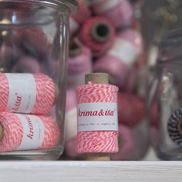 krima&isa Garnrolle mini pink (neon)