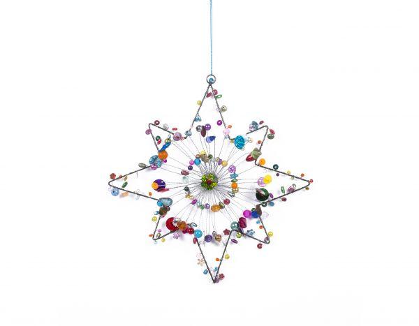 Stern mit Perlen, achtzackig