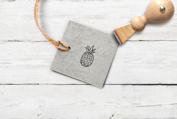 Stempel Ananas, klein