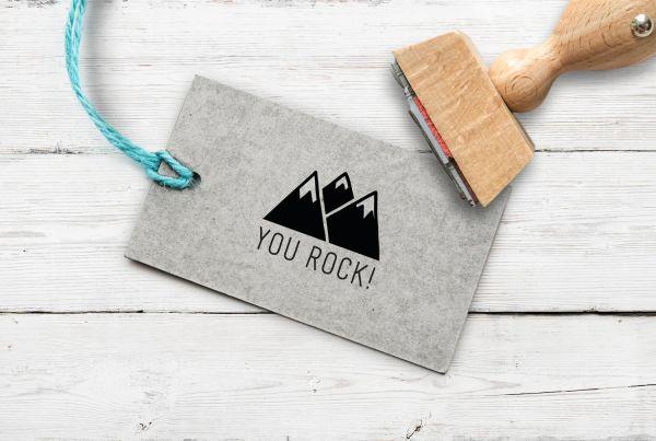 Stempel You Rock Berge