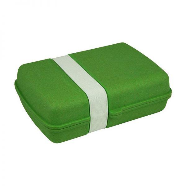 Brotdose/Lunchbox mit Gummi, grün