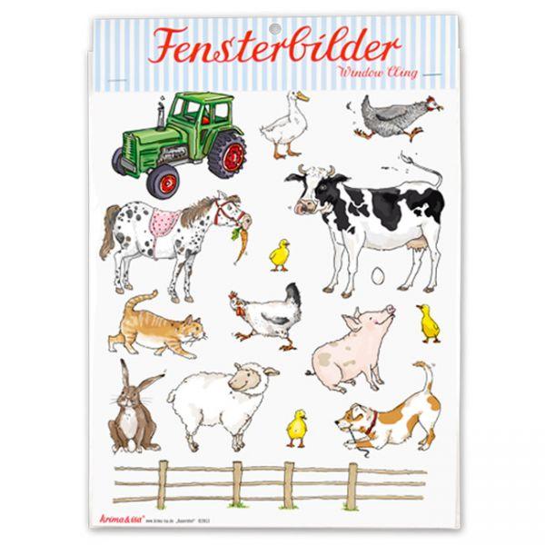krima&isa Fensterbilder Bauernhof