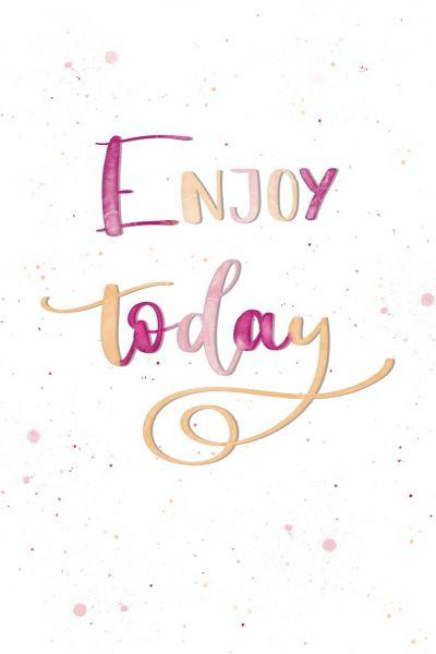 "Postkarte ""Enjoy today"""
