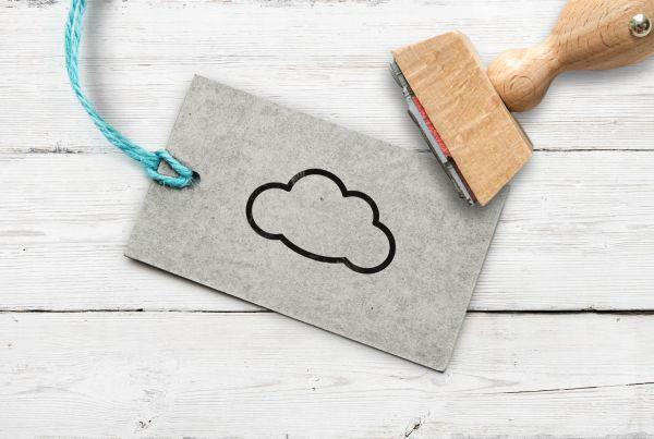 Stempel Wolke, ungefüllt