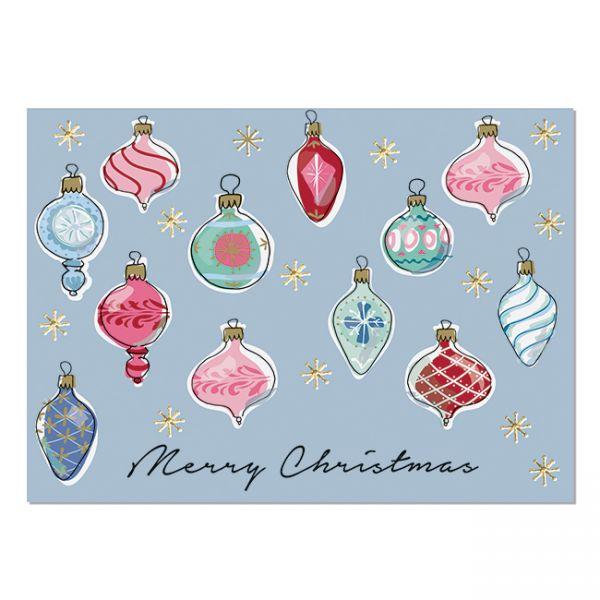 """krima&isa Postkarte """"Weihnachtsbaumkugeln"""""""