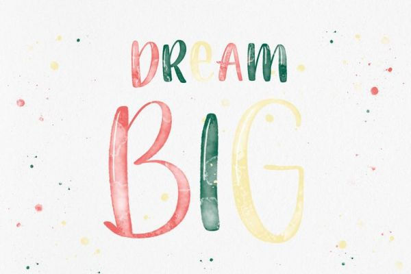 "Postkarte ""Dream Big"""