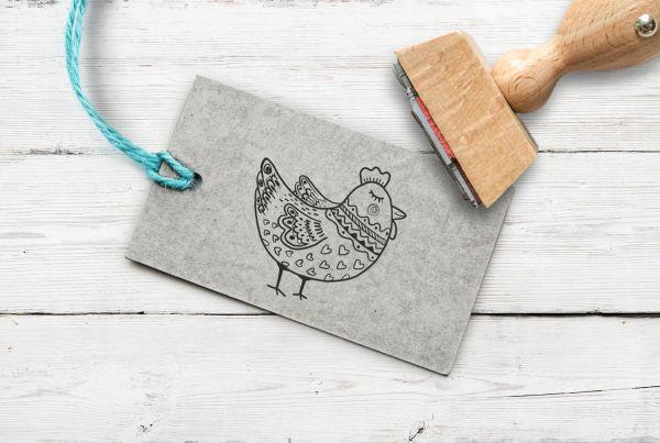 Stempel Huhn 1