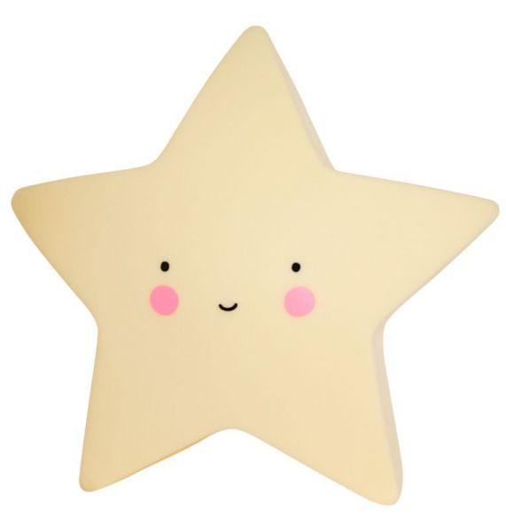 Nachtlicht Stern, gelb