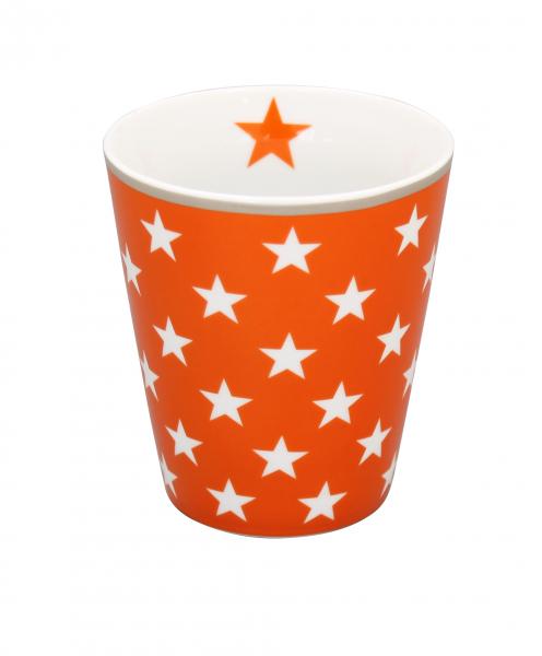 Tasse mit Sternen, orange