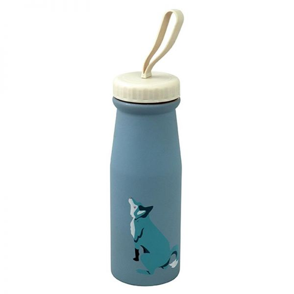 Thermoskanne/Flasche, Wolf blau