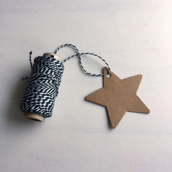 Geschenkanhänger/gift tag Stern, braun (10 Stück)