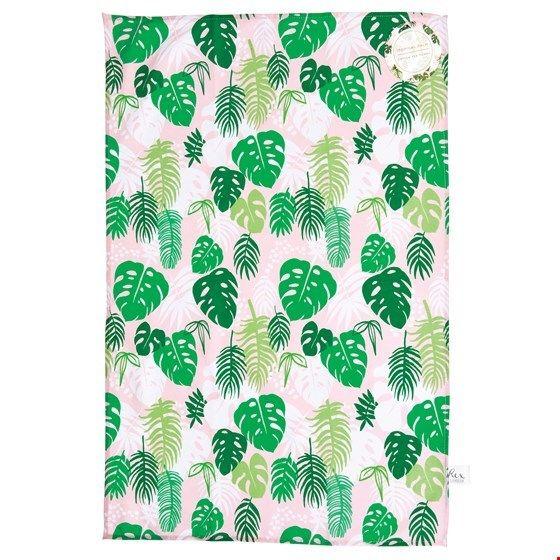 "Geschirrtuch Palmen ""Tropical Palm"", rosa/grün"