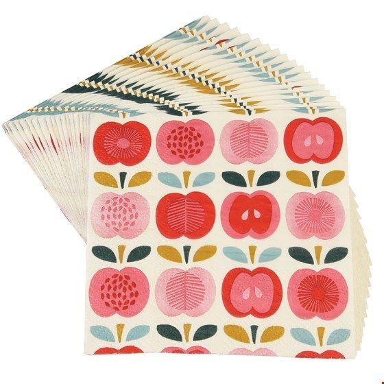 """Servietten Äpfel """"Vintage Apple"""", klein"""