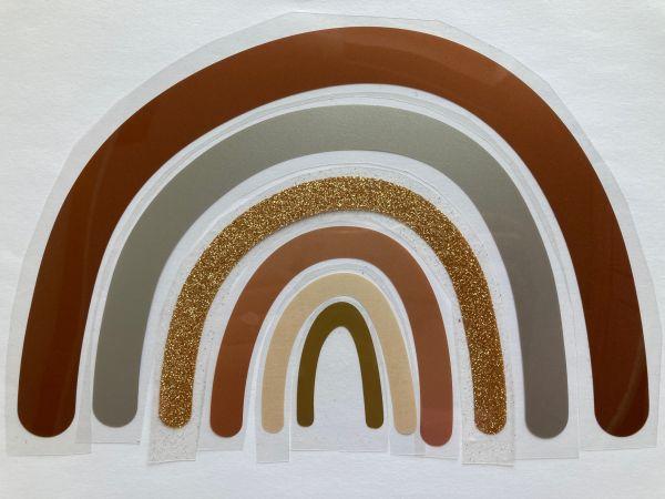 Regenbogen (geplottet zum Aufbügeln) in Metallicfarben, kupfer