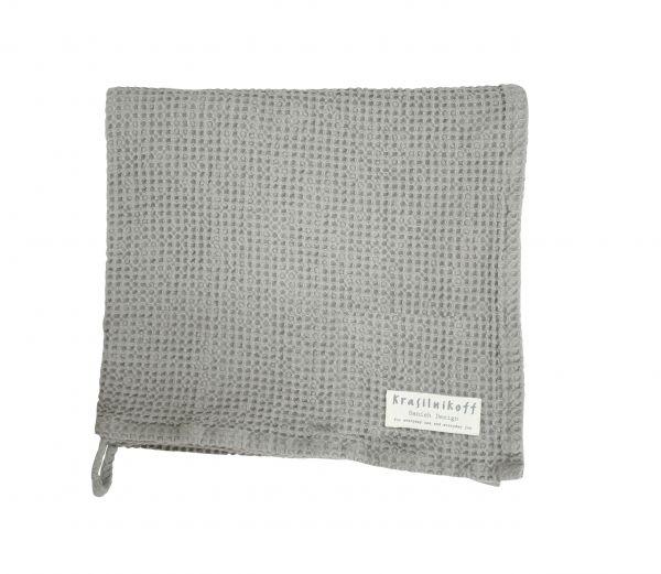 Duschtuch/Handtuch, Waffelstruktur, grau