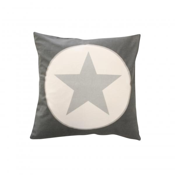Kissenhülle dunkelgrau mit großem Stern