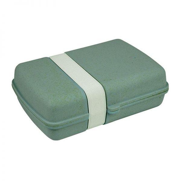 Brotdose/Lunchbox mit Gummi, blau