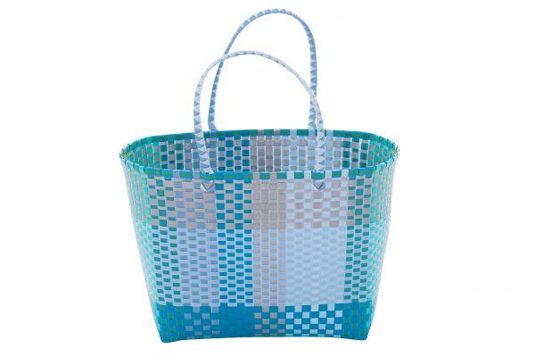Overbeck and Friends Markttasche Gina blau, groß oval