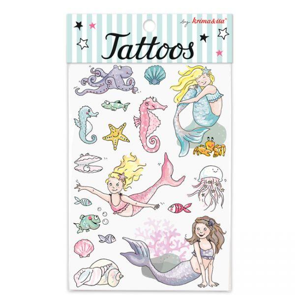 krima&isa Kinder Tattoos Meerjungfrauen
