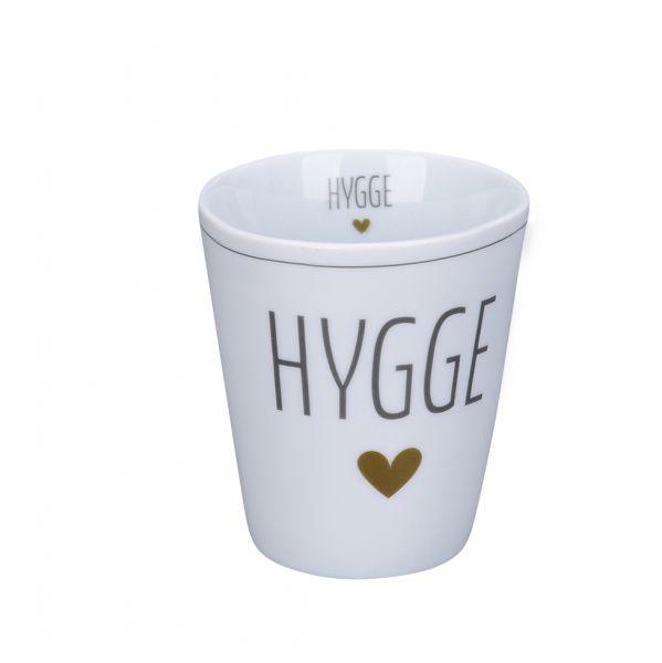 "Tasse ""Hygge"", grau/gold"