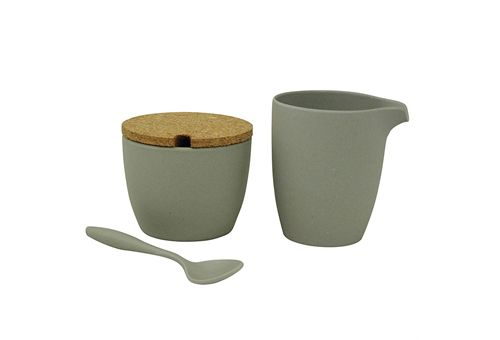 Zucker und Milch-Set aus Bambus
