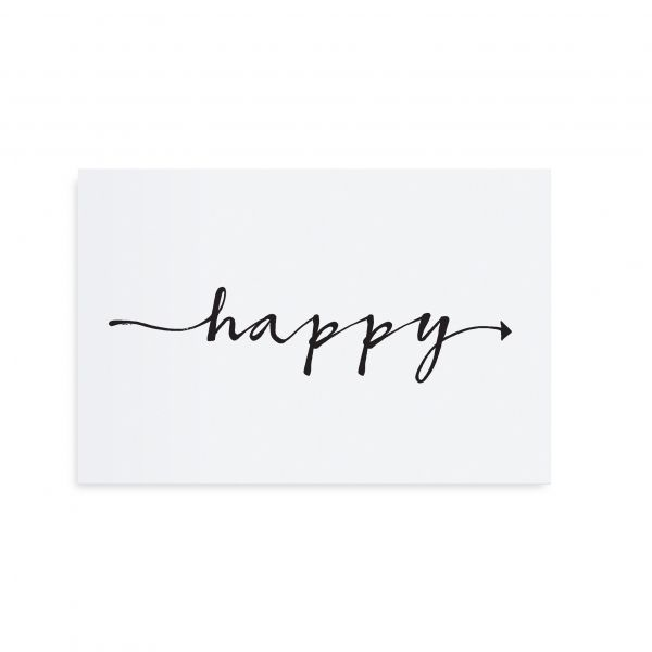 "Postkarte ""Happy"" von Tafelgut"
