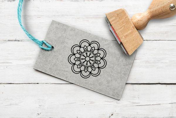 Stempel Blume/Mandala 2