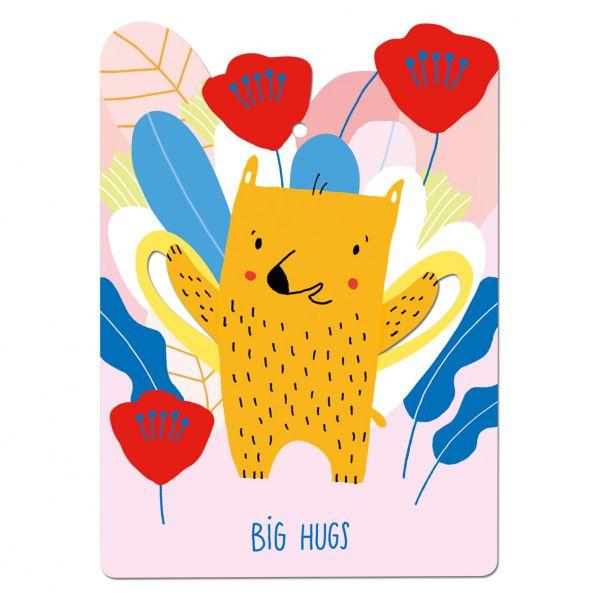 """Postkarte """"Big Hugs"""" (Pop Out)"""