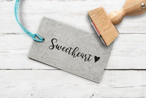 Stempel Sweetheart mit Herz