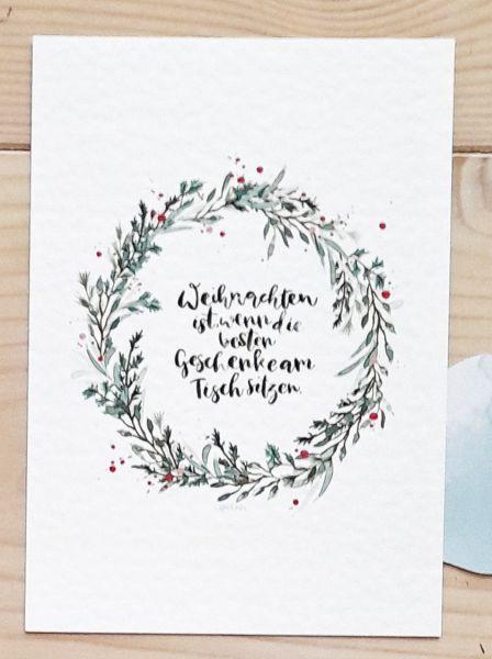 """Postkarte """"Weihnachten ist...."""""""