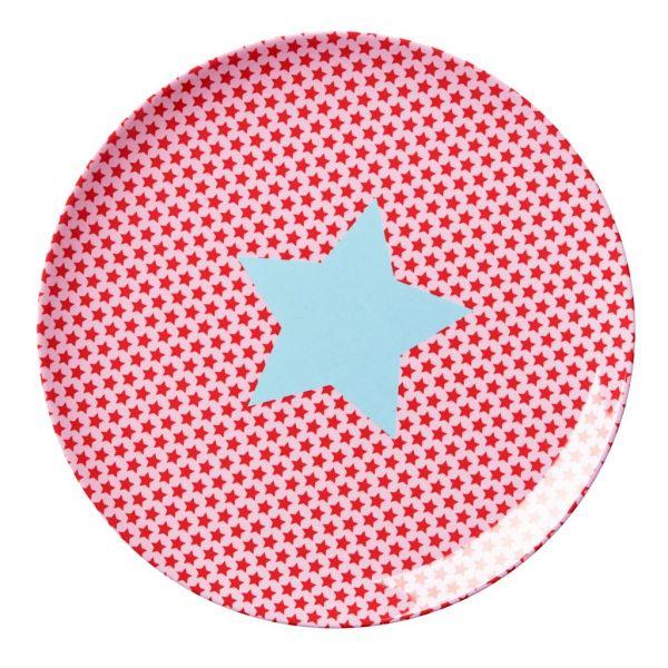 Teller mit Sternen, rosa