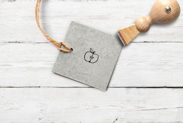 Stempel Apfel aufgeschnitten, klein