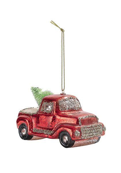 Anhänger von Bloomingville aus Glas, Weihnachtsauto 1