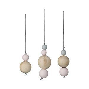 Anhänger von Bloomingville mit Holzperlen, 4 Perlen (Mitte)
