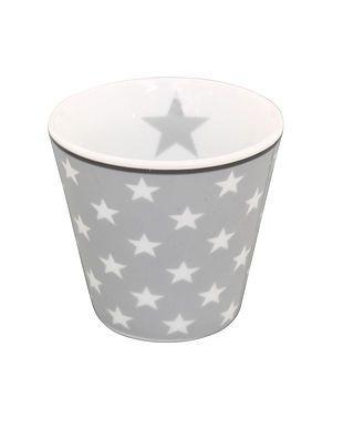 Espressotasse mit Sternen, hellgrau