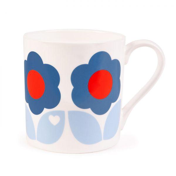 byGraziela Tasse/Becher Blumen, blau-hellblau