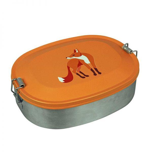 Brotdose/Lunchbox aus Stahl, Fuchs