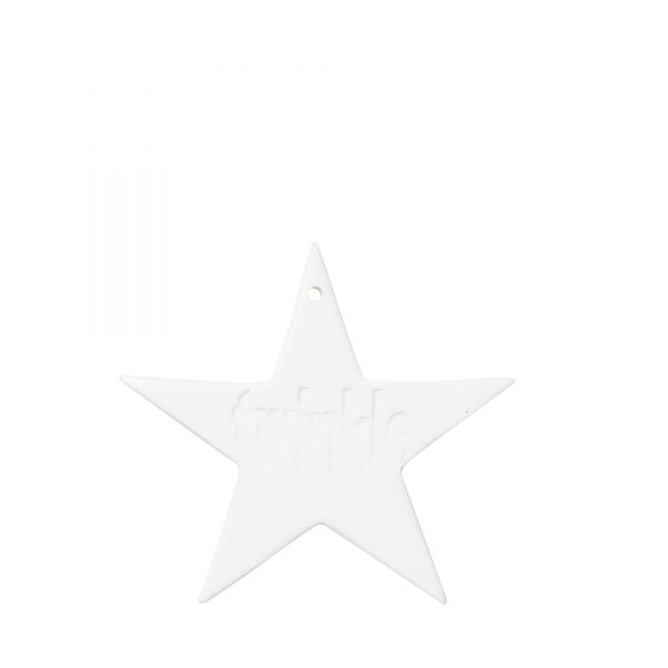 Anhänger von Bloomingville aus Porzellan, Stern Twinkle