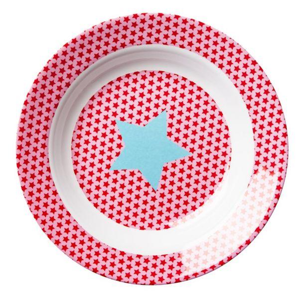Tiefer Teller mit Sternen, rosa