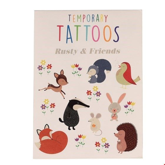 "Tattoos ""Rusty and friends"", Waldtiere"