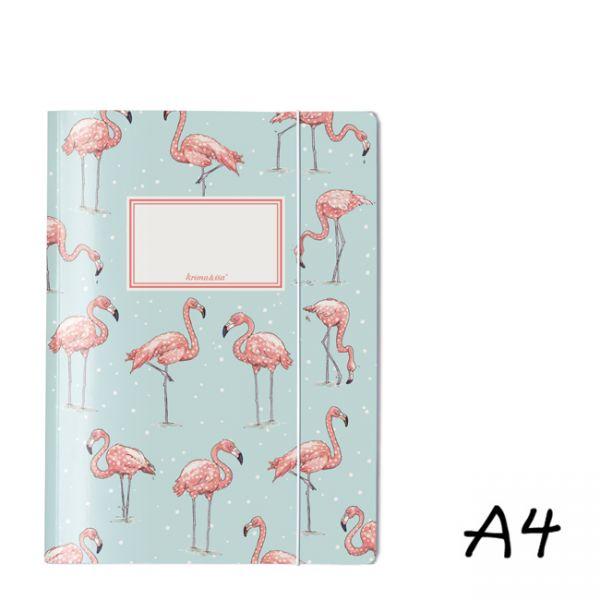 krima&isa Sammelmappe A4 Flamingo