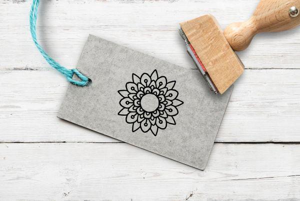 Stempel Blume/Mandala 1