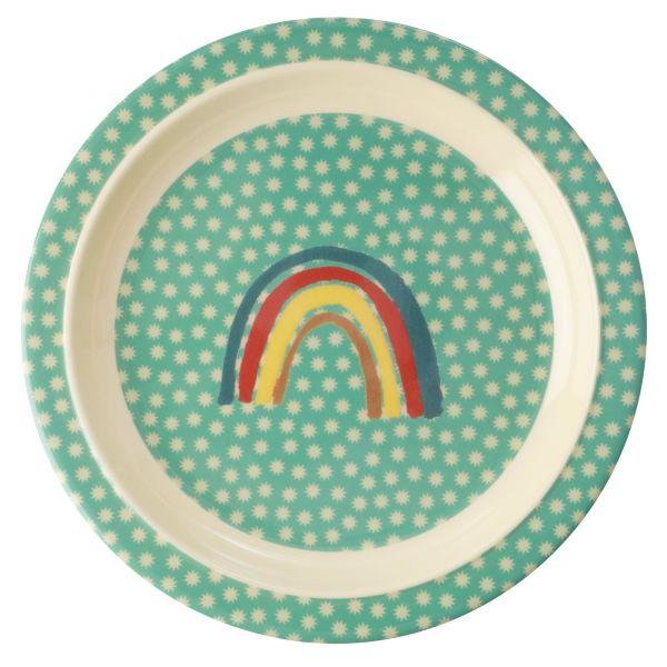 Teller mit Regenbogen