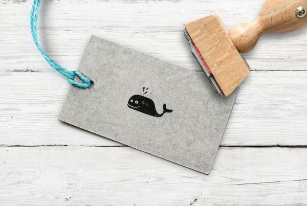 Stempel Wal (zwei Augen)