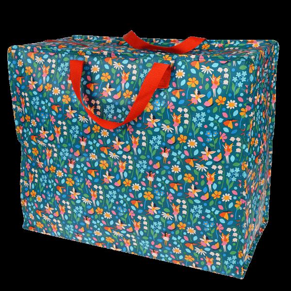 """Große Tasche mit Blumen und Feen """"fairies in the garten"""""""