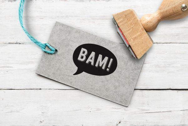 "Stempel Sprechblase ""BAM!"" (schwarz)"